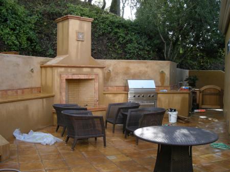 Current Project- Napa Outdoor Kitchen   Turned Earth