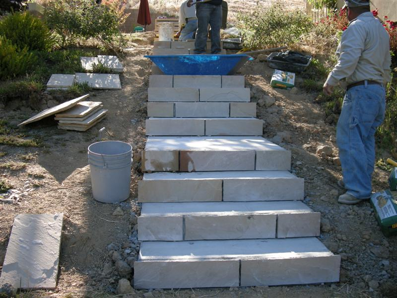 Flagstone On Stairs