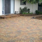 Paver Patio with Landing and Planter