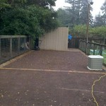 Compacted Gravel Utility Area with Paver Edge Course
