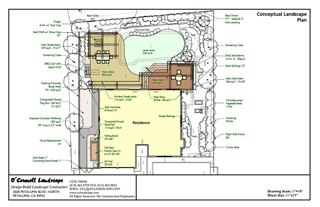From the drawing board novato back yard pool removal for Pool plans online