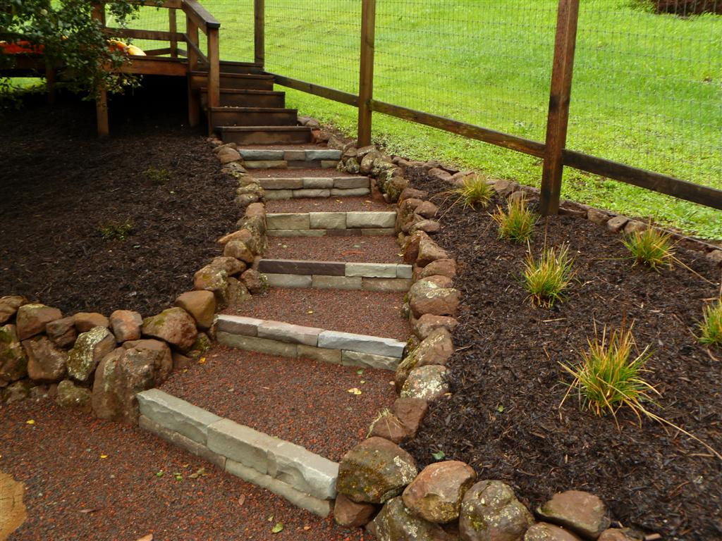 how to keep rock paths contaned