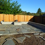 During Construction- Bluestone Patio Setting