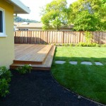 Deck, Lawn and Stepping Stone Path