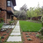 Dry laid bluestone walkways with groundcover