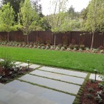 Front entry lawn and large bluestone treads