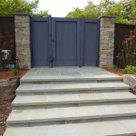 Bluestone steps and cedar entry gate
