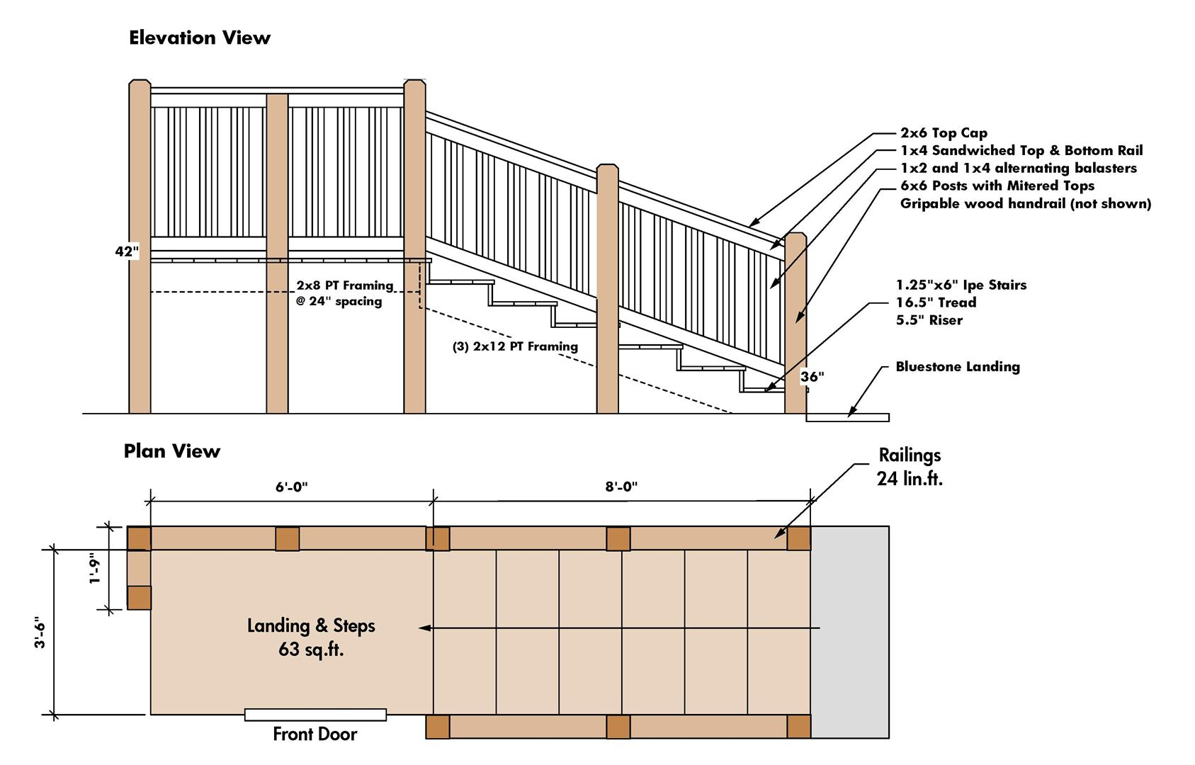 From The Drawing Board Craftsman Style Railing