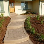 Stamped Concrete Entry Walkway