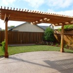 Redwood Arbor and Concrete Patio