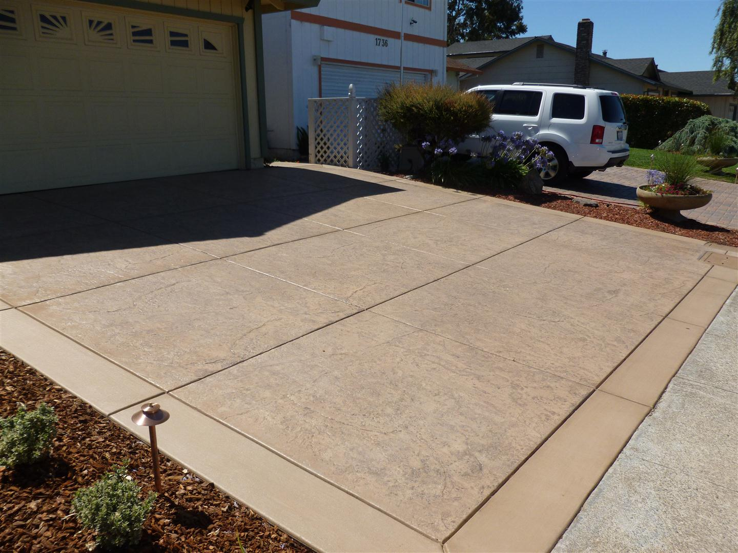 Completed project petaluma front back yard for New driveway ideas