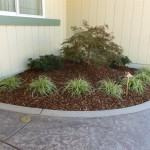 Front Planter with Copper Low Voltage Lighting