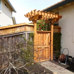New Gate and Arbor Entry to Back Yard