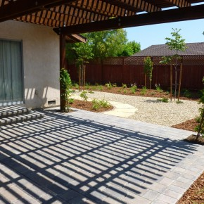 Paver Patio with Shade Arbor
