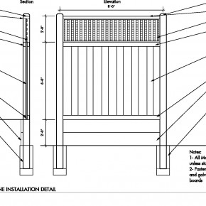 Wooden Fence Construction Details