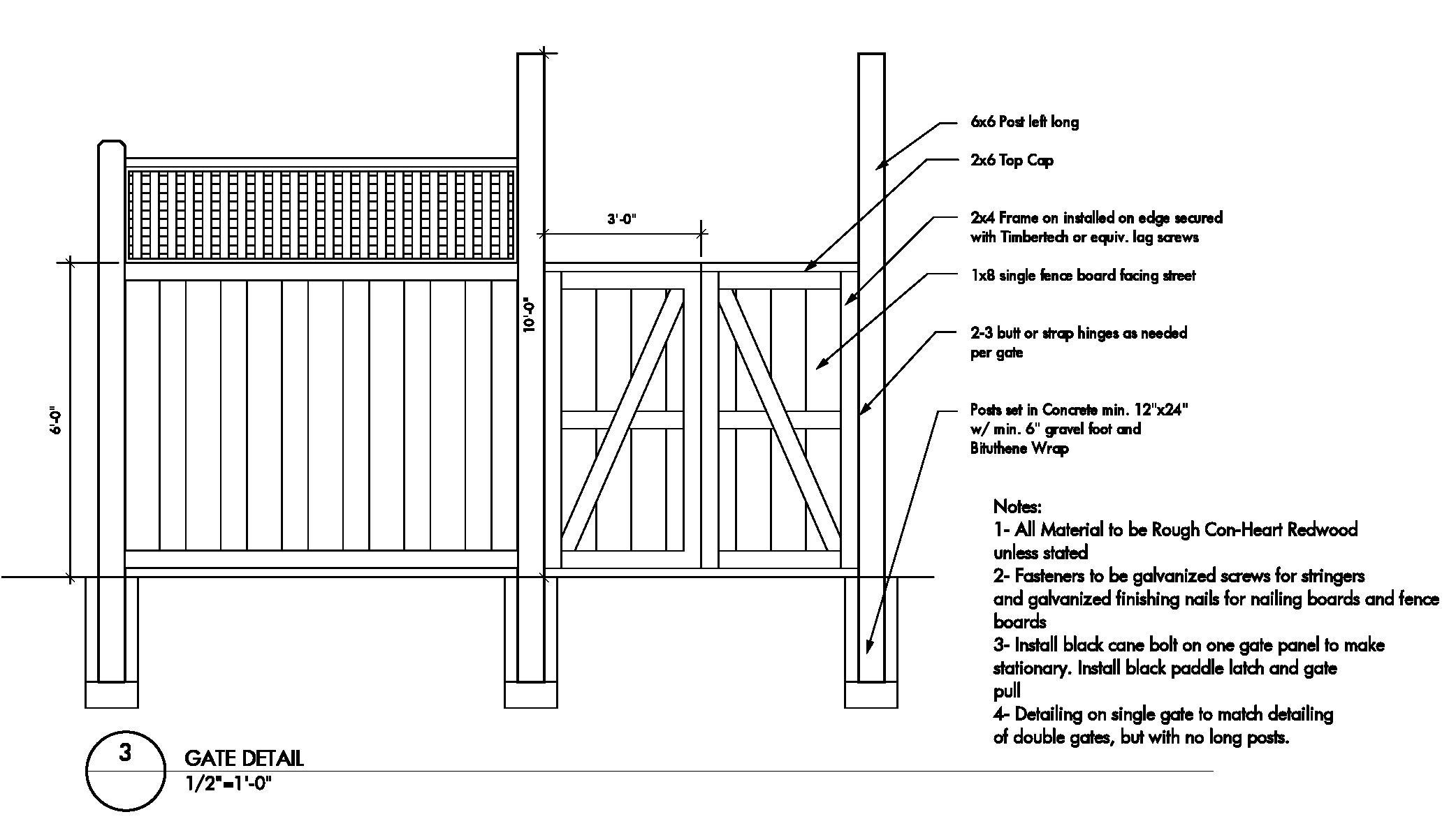 Wood Fence Gate Construction Details