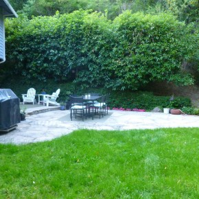 Before- existing patio
