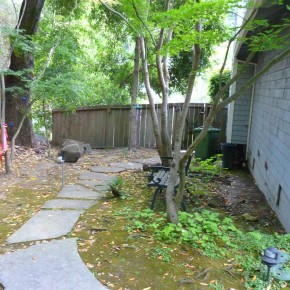 Before- existing walkway