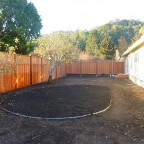 Perimeter fence installation, San Rafael, Ca