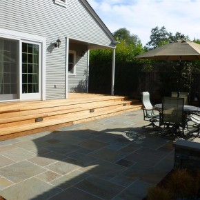Bluestone Patio and Redwood Deck