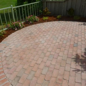 Petaluma project- brick patio