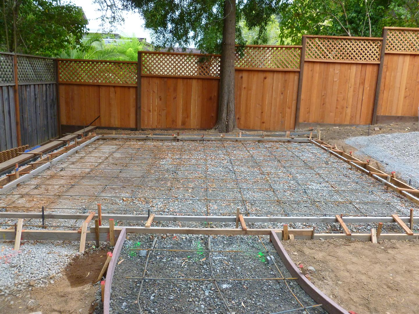 Kentfield Project  Rebar And Form Set For Concrete Patio