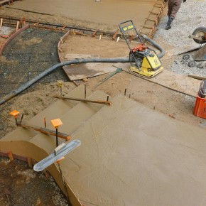 Kentfield project- pouring new concrete walkways