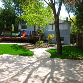Kentfield project- concrete and synthetic turf
