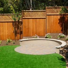 Kentfield project- paver seating area