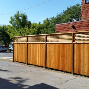 New privacy fencing