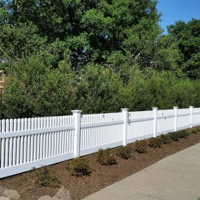 After- New front vinyl fence