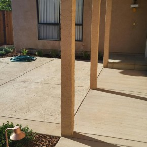 New concrete entry walkway