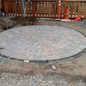 Front paver seating area