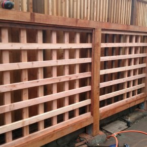 Custom redwood trellis