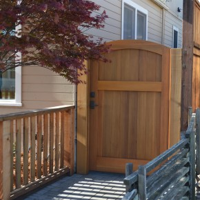 Petaluma Project- side yard cedar gate