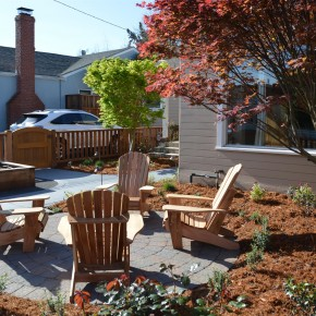 Petaluma Project- Front yard paver seating area