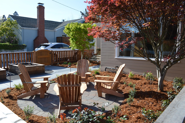 petaluma project front yard paver seating area