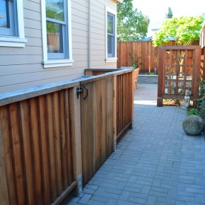 Petaluma project- Redwood utility enclosure