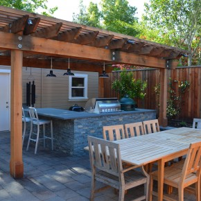Petaluma Project- Redwood pergola