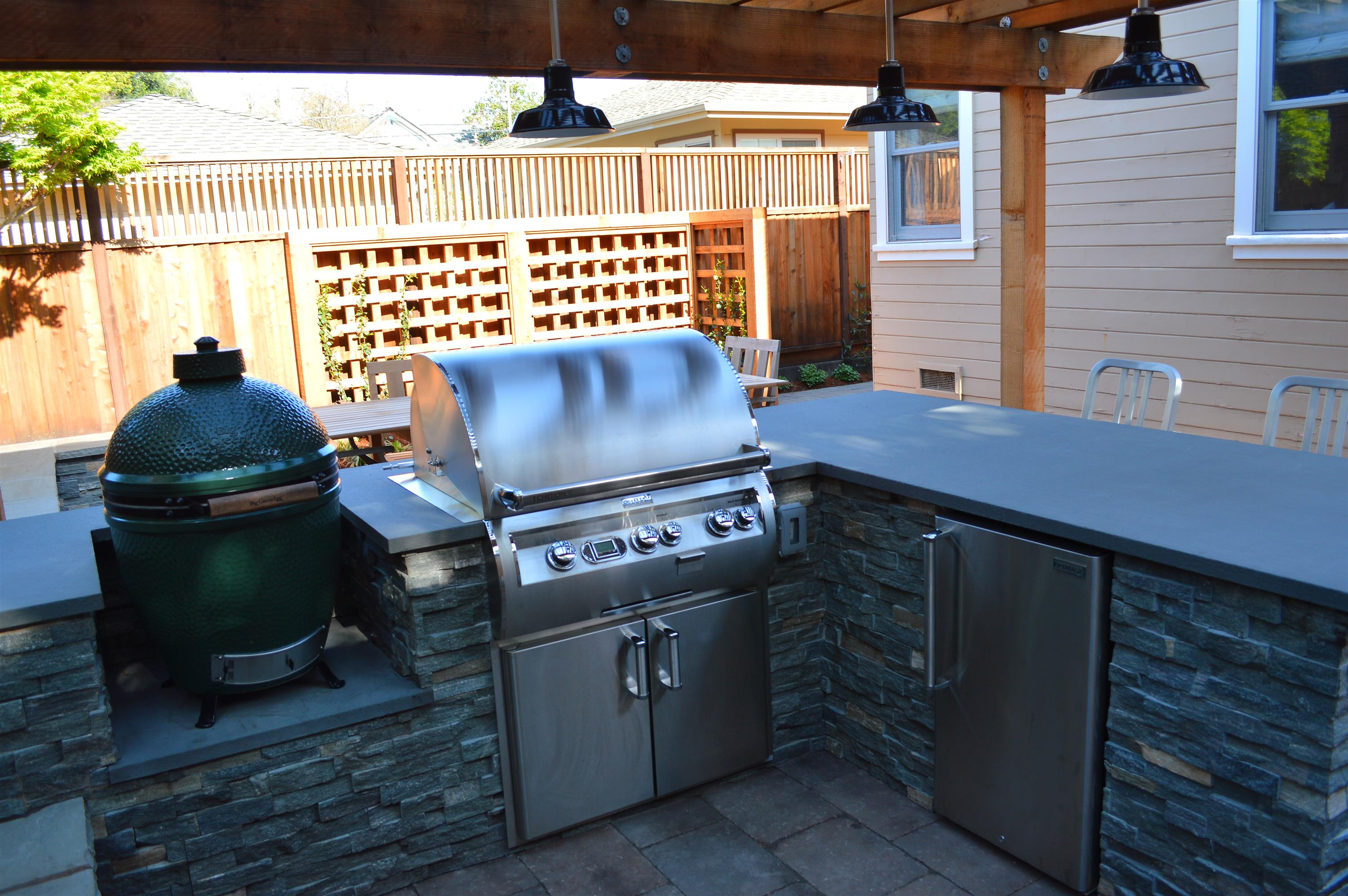petaluma project bbq island with firemagic grill outdoor fridge
