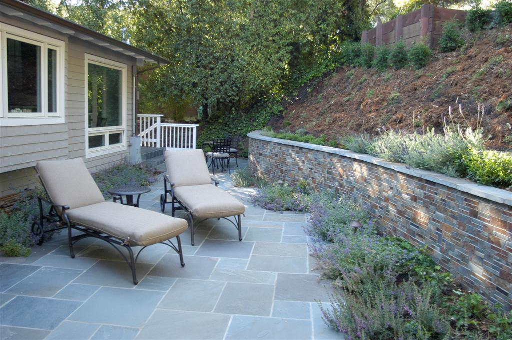 Belvedere Project Bluestone Patio Amp Stone Wall Turned Earth