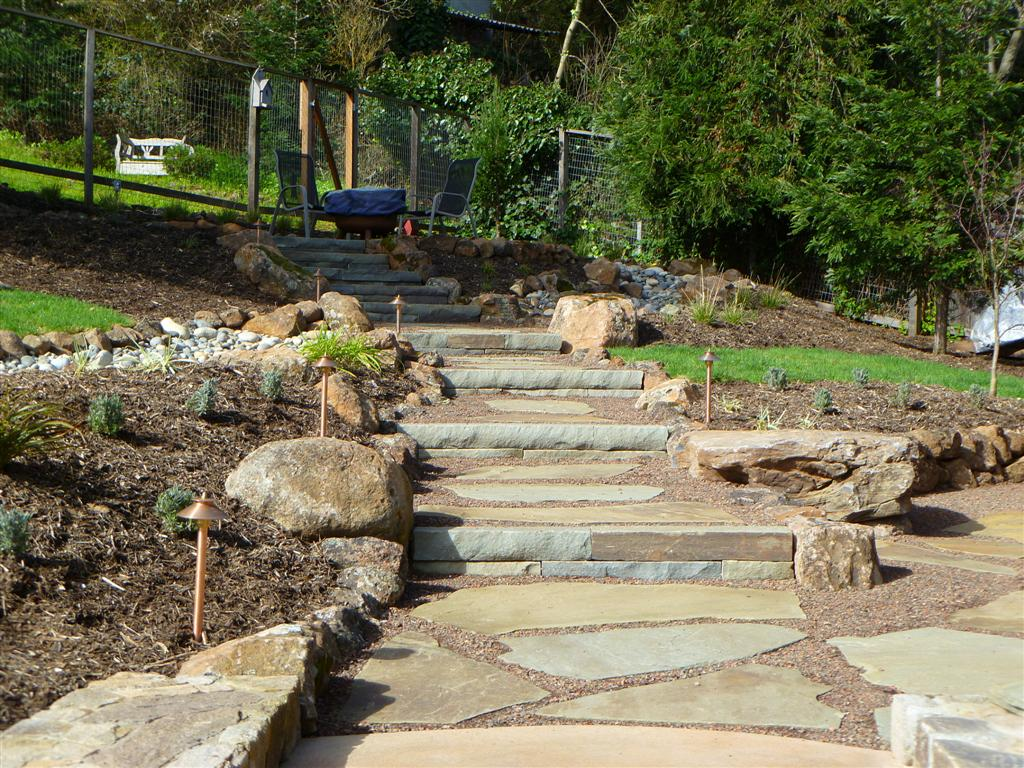 Hillside Project Completed | Turned Earth on Uphill Backyard Landscaping Ideas id=64094